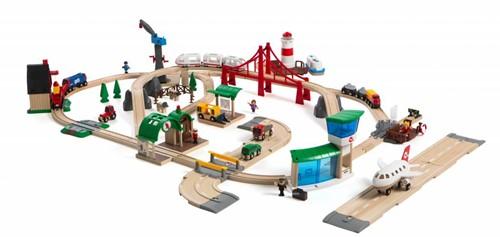 Brio  houten trein set De Luxe 33766-1