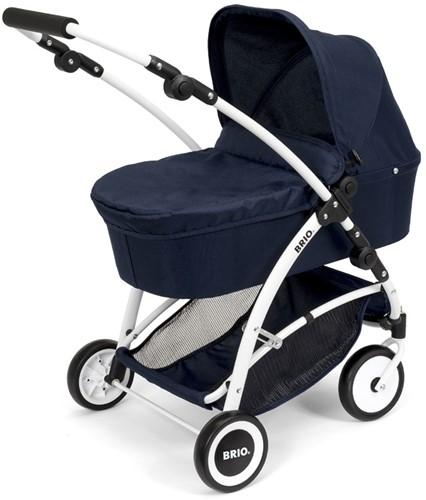 BRIO speelgoed Poppenwagen Spin blauw