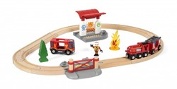 Brio  houten trein set Rescue Fire Rescue Set Flat 33815