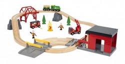 Brio  houten trein set Rescue Fire Rescue Set Deluxe 33817