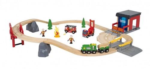 BRIO trein Grote treinset brandweer 33817
