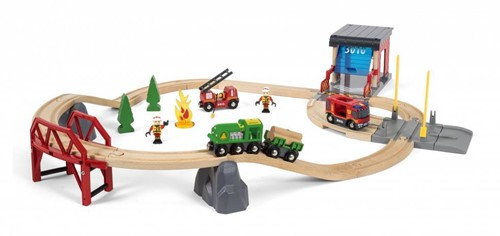 Brio  houten trein set Rescue Fire Rescue Set Deluxe 33817-3