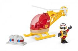 Brio  houten trein accessoire Rescue Helicopter 33797