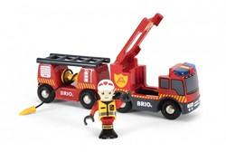Brio  houten trein accessoire Rescue Fire truck