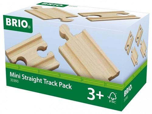 Brio  houten treinrails Mini Straight Track pack 33393-2