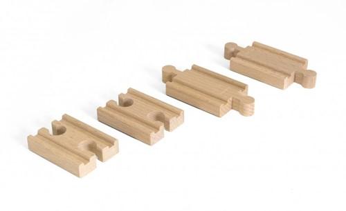 Brio  houten treinrails Mini Straight Track pack 33393-1