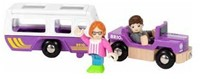BRIO trein Auto met caravan 33949