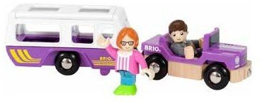BRIO trein Auto met caravan 33949-1