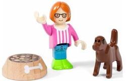 Brio  speelstad poppen Kind met hond 33952
