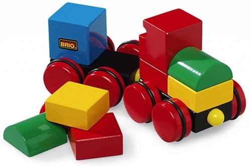 Brio  houten bouwblokken Magnetische stapeltrein 30124-1