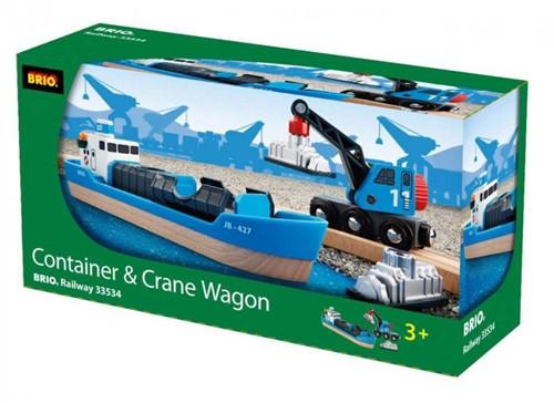 Brio  houten trein accessoire Containerschip 33534-2