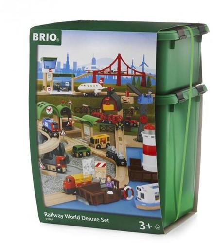 Brio  houten trein set De Luxe 33766-3