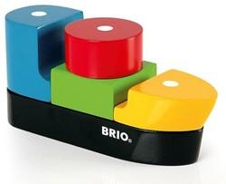 Brio  houten bouwblokken Boot met magnetische blokken 30135