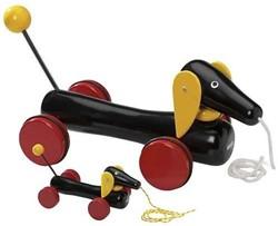 Brio  houten trekfiguur hond 30334