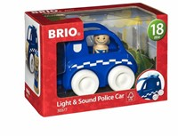 Brio  houten speelvoertuig Light & Sound Police Car-1