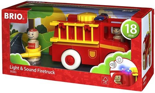 Brio  speelvoertuig Licht en geluid brandweerwagen 30383-2