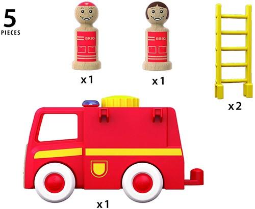 Brio  speelvoertuig Licht en geluid brandweerwagen 30383-3
