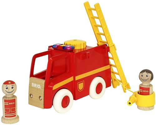 BRIO speelgoed Licht en geluid brandweerwagen