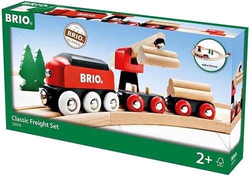 Brio  houten trein set Klassieke vrachttrein set 33010-2