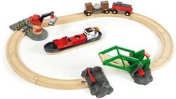 Brio  houten trein set Laadhaven set 33061