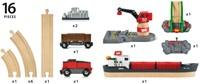 Brio  houten trein set Laadhaven set 33061-3