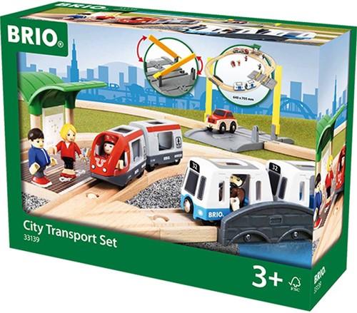 Brio  houten trein set City transport Set 33139-2