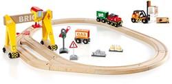 Brio  houten trein set Kraanset 33157