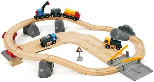 Brio  houten trein set Rail & Road Loading set 33210-1