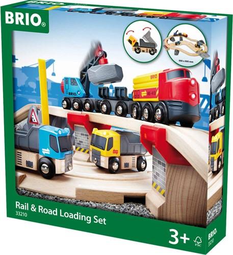 Brio  houten trein set Rail & Road Loading set 33210-2