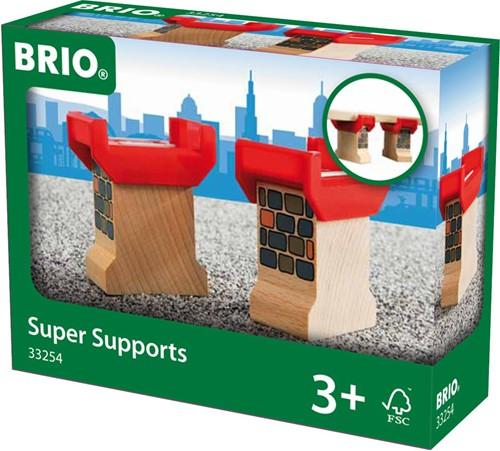 Brio  houten trein accessoire Super brugpeilers 33254-2