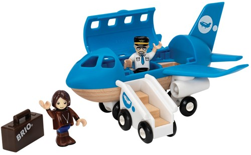 BRIO trein Vliegtuig instapset 33306