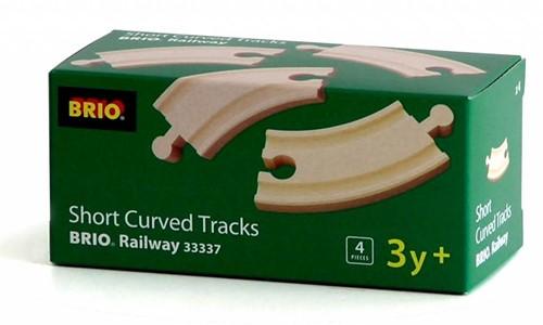Brio  houten treinrails 4 kleine bochten 33337-2