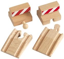Brio  houten treinrails Stootblokken 33385