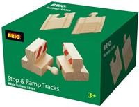 Brio  houten treinrails Stootblokken 33385-2