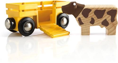 BRIO Cow & Wagon