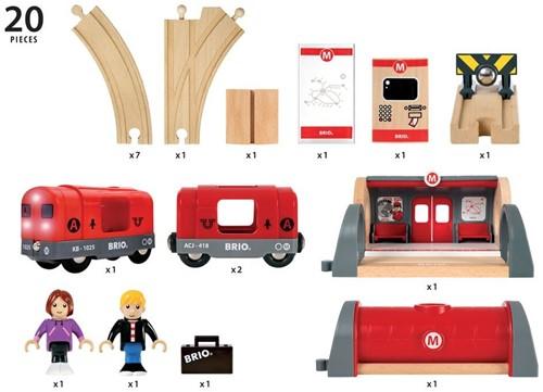 Brio metro treinset rood 33513-3