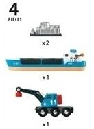 BRIO trein Containerschip met kraanwagen 33534