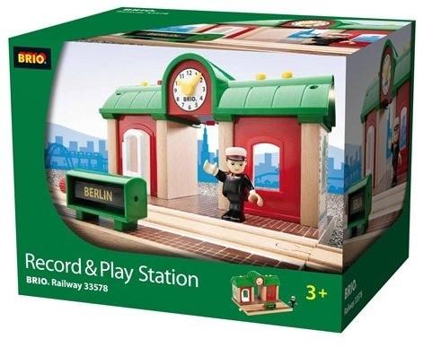 BRIO trein Treinstation met geluidsopname functie 33578