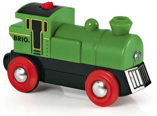 BRIO trein Groene locomotief op batterijen 33595-1
