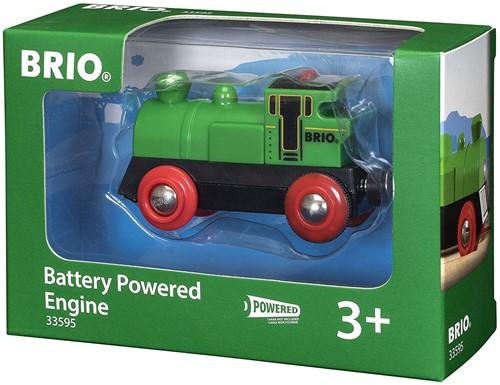 BRIO trein Groene locomotief op batterijen 33595-2