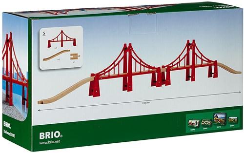 Brio  houten trein accessoire Dubbele Sidney brug 33683-2
