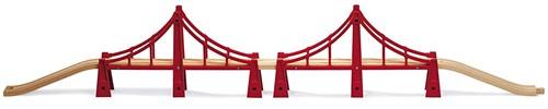 Brio  houten trein accessoire Dubbele Sidney brug 33683-1