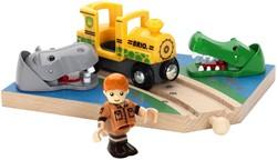 Brio  houten trein accessoire Safaritrein thema set 33721