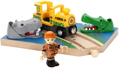 Brio  houten trein accessoire Safaritrein thema set 33721-1