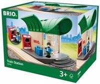 Brio  houten trein gebouw Station met geluid 33745-3