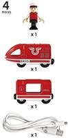 BRIO trein Oplaadbare rode passagierstrein met USB kabel 33746-3