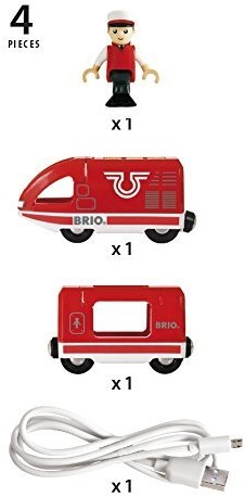 Brio  houten trein Travel trein met USB-kabel 33746-3