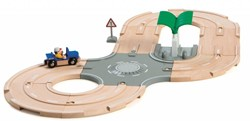 Brio  houten trein set City Road set 33747