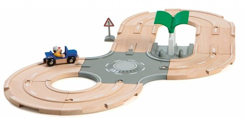 Brio  houten trein set City Road set 33747