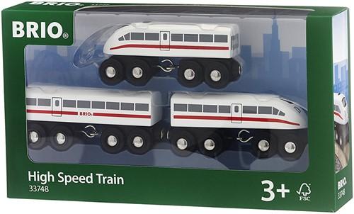 BRIO trein Hogesnelheidstrein met geluid 33748-3